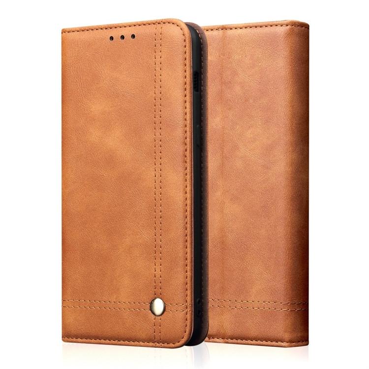 Кожаный чехол -книжка Retro Texture Wallet для iPhone 11 Pro Max- хаки