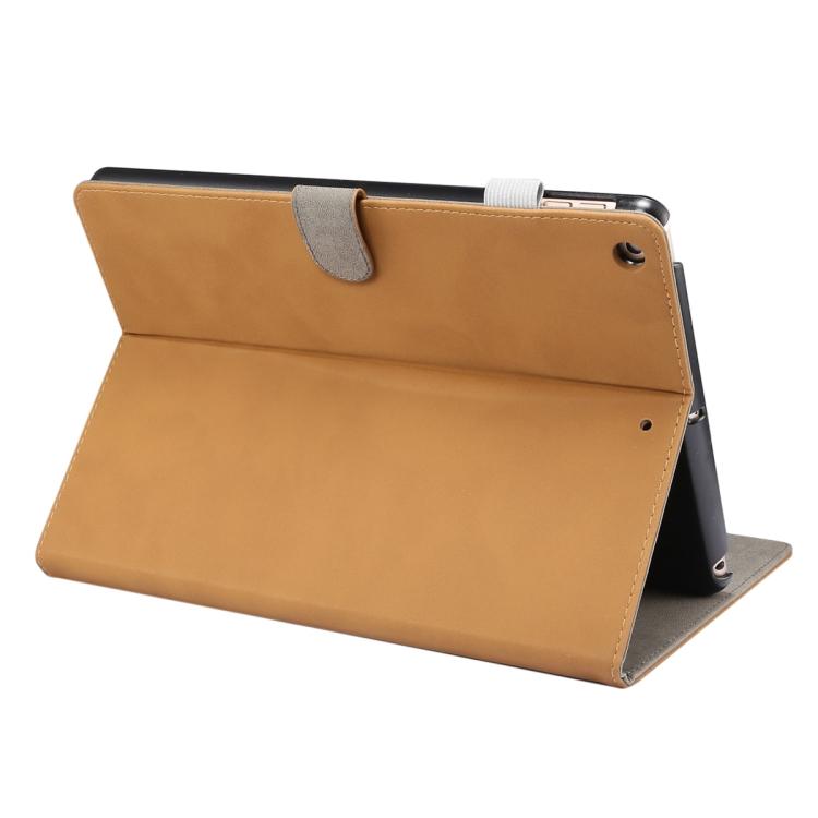 Чехол-книжка с складной подставкой светло-коричневого цвета на Айпад 7 10.2