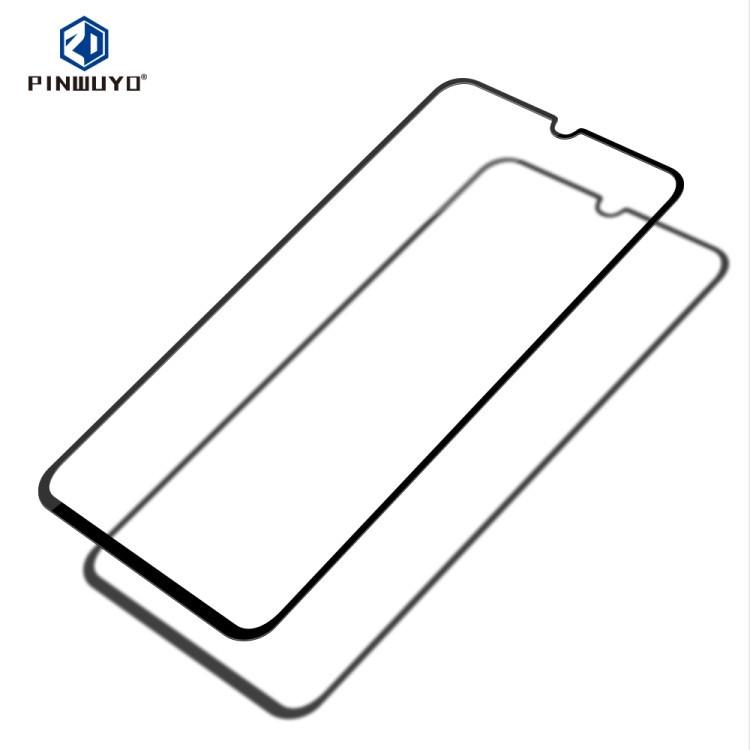 Защитное стекло PINWUYO 9H 3D Full Glue на Samsung Galaxy A80 / A90-черный