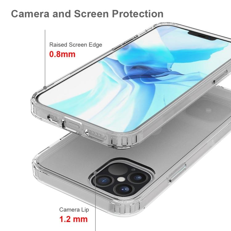 Акриловый противоударный чехол HMC на Айфон 12/12 Pro - прозрачный