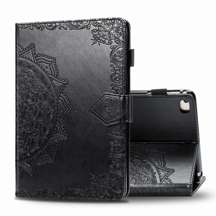 Чехол-книжка Embossed Mandala для iPad Mini 5 / 4 / 3 / 2 / 1 - черный