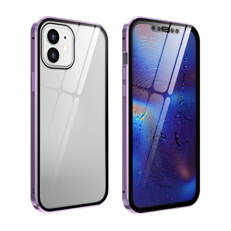 Фиолетовый чехол-книжка для Айфон 12 Мини