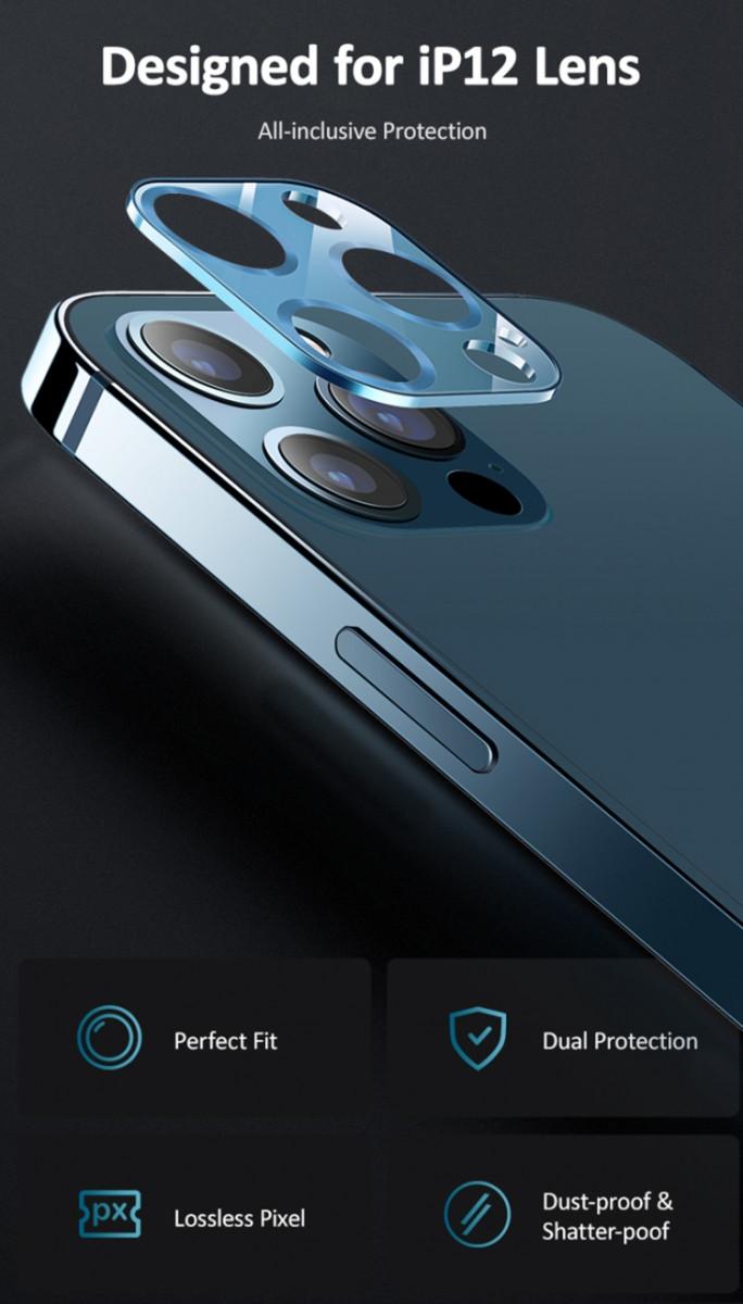 Защитное стекло для камеры золотого цвета на Айфон 12 Про
