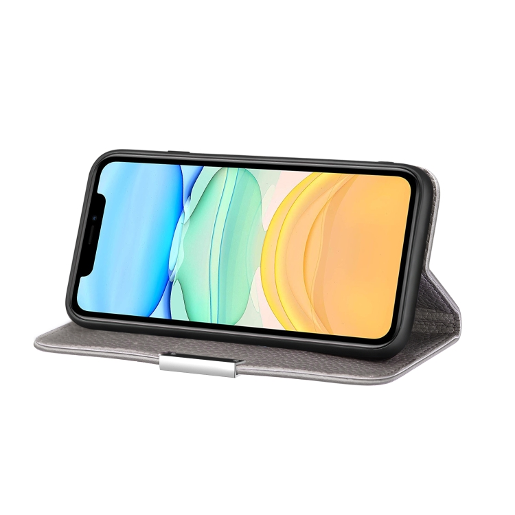 Чехол-книжка с горизонтальной подставкой для Айфон 12 Мини - серый