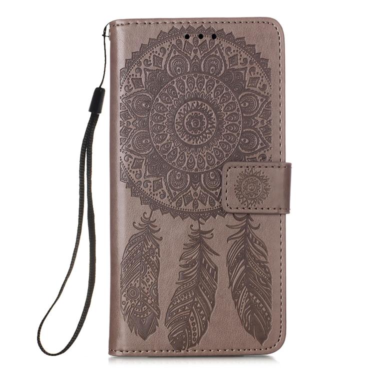 Чехол-книжка Dream серого цвета для Samsung Galaxy A12/M12