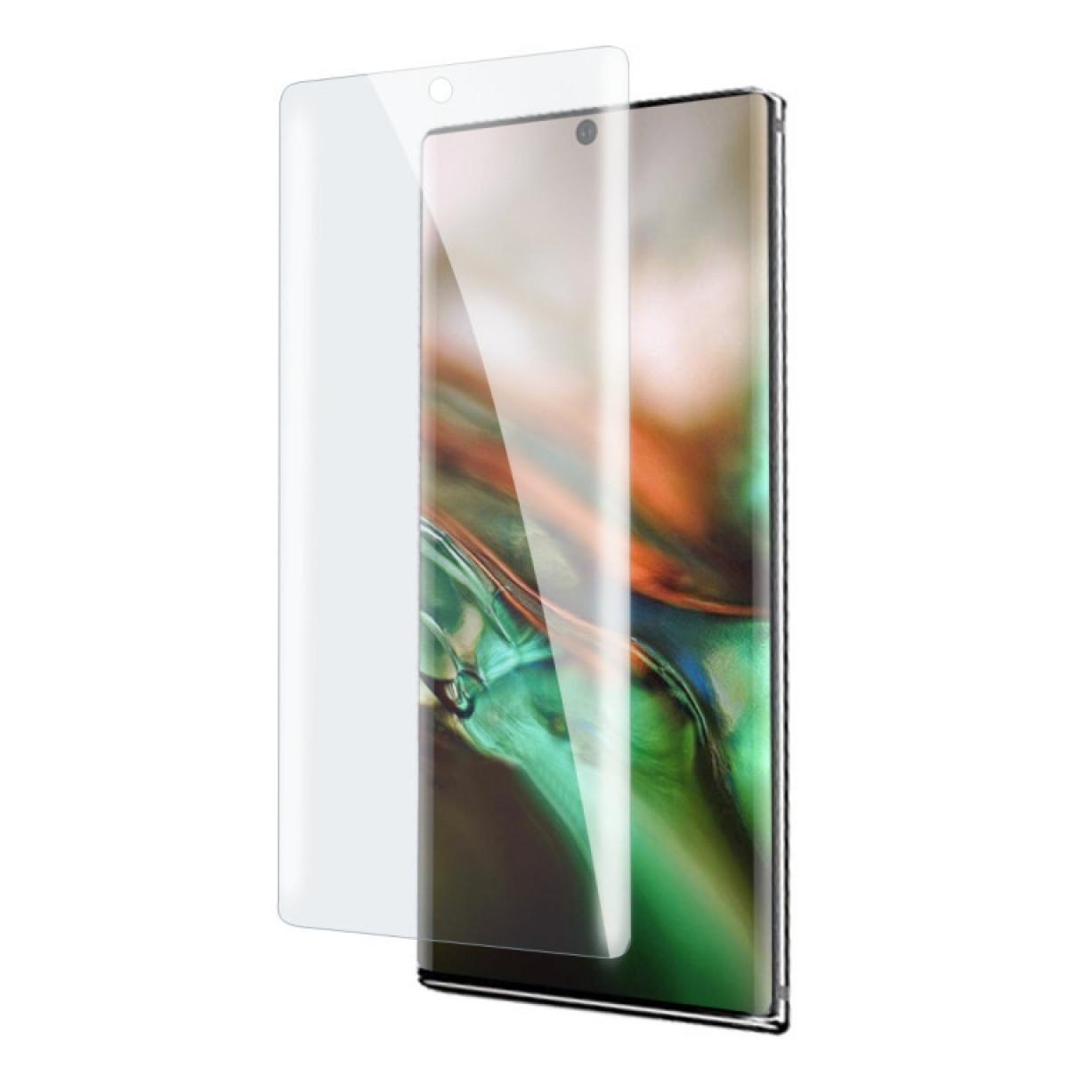 Защитное 3D стекло с поддержкой отпечатка с УФ лампой UV Liquid Curved Full Glue для Samsung Galaxy Note 10+ Plus