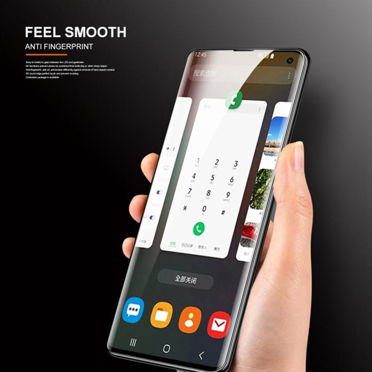 Защитное 3D стекло с поддержкой отпечатка с УФ лампой UV Liquid Curved Full Glue для Samsung Galaxy Note 10