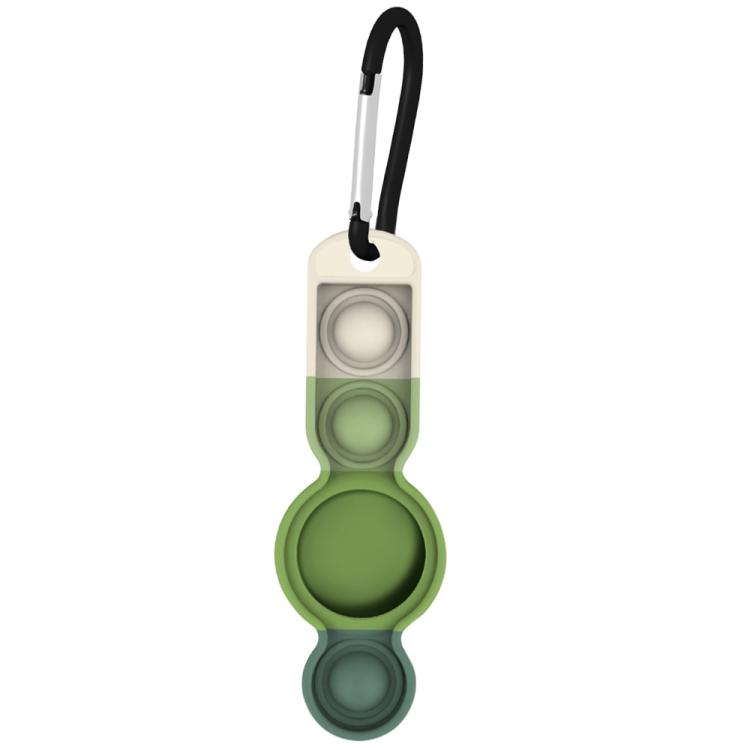 Брелок Color-contrast с карабином для AirTag - темно-зеленый