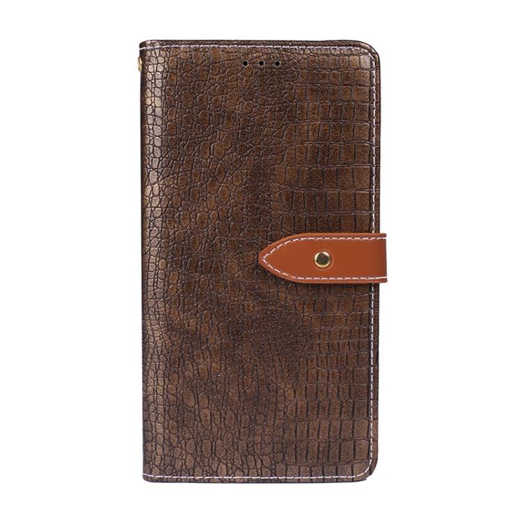 Кожаный чехол-книжка на Ксяоми Редми Нот 10 Про коричневый