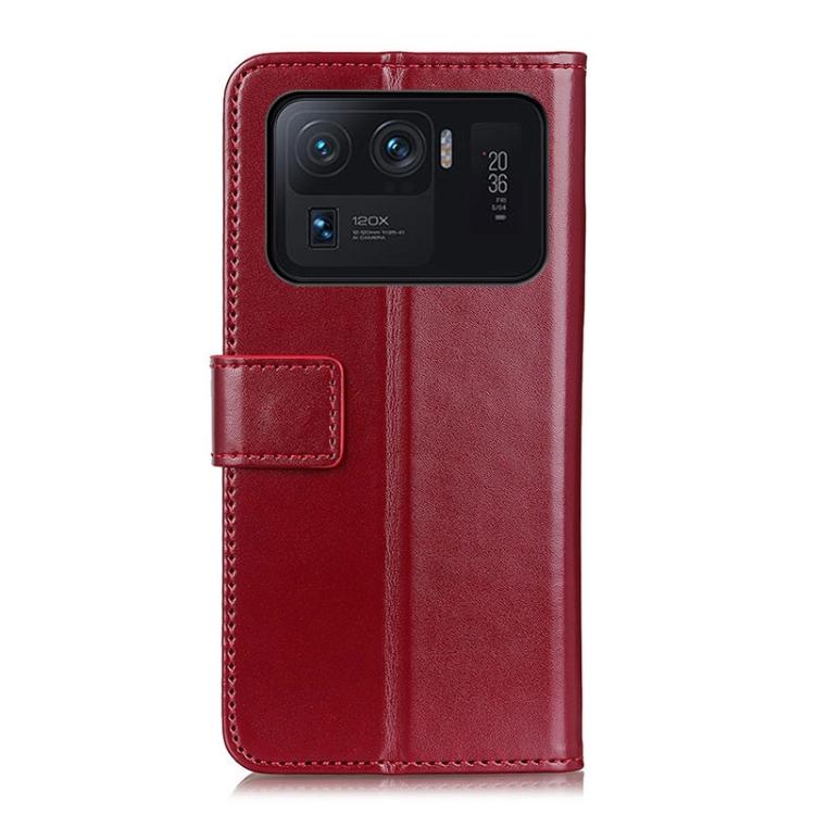 Чехол-книжка на Ксяоми Mi 11 Ultra - винно-красный