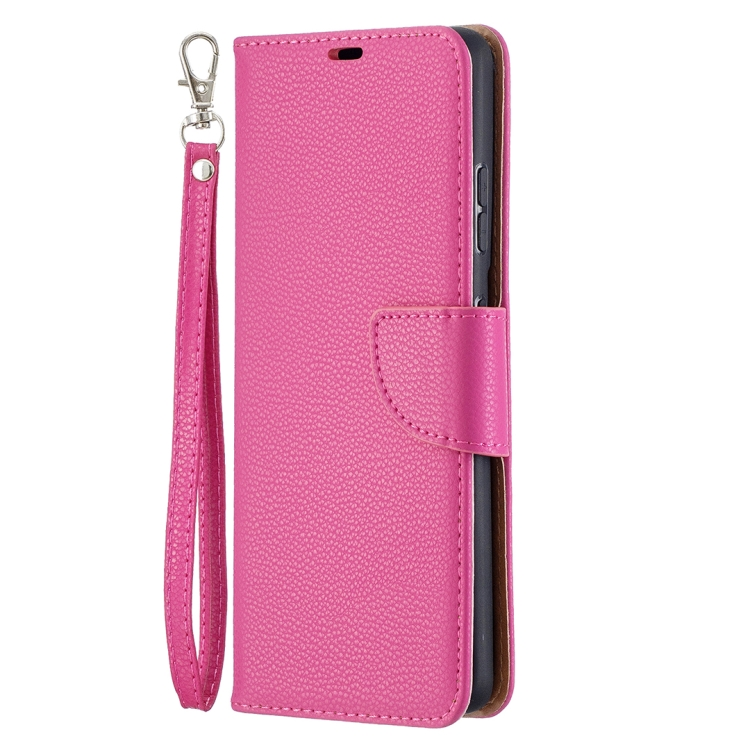 Пурпурно-красный чехол-книжка Pure Color на Samsung Galaxy S21 Ultra