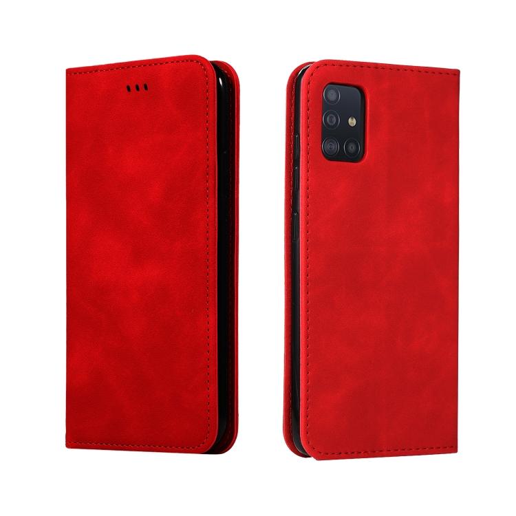 Чехол- книжка Retro Skin Feel Business Magnetic на Samsung Galaxy А51 - красный