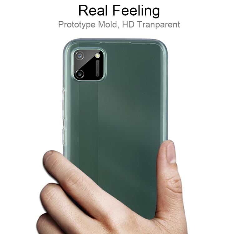 Ультратонкий силиконовый чехол на Realme C11 - прозрачный 0.75мм