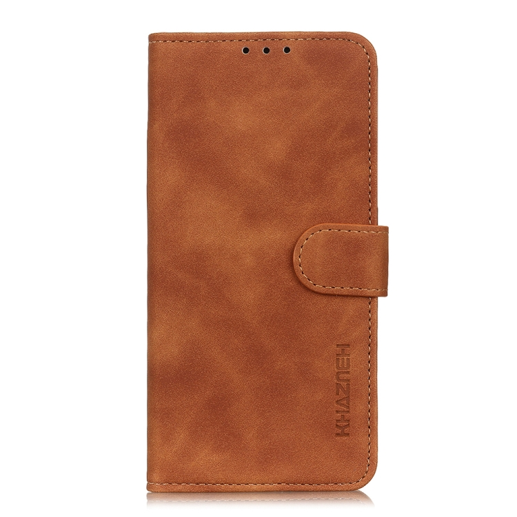 Чехол-книжка KHAZNEH Retro Texture на Samsung Galaxy S20 FE - коричневый