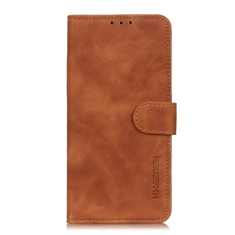 Чехол-книжка KHAZNEH коричневого цвета на Xiaomi Poco X3 Pro