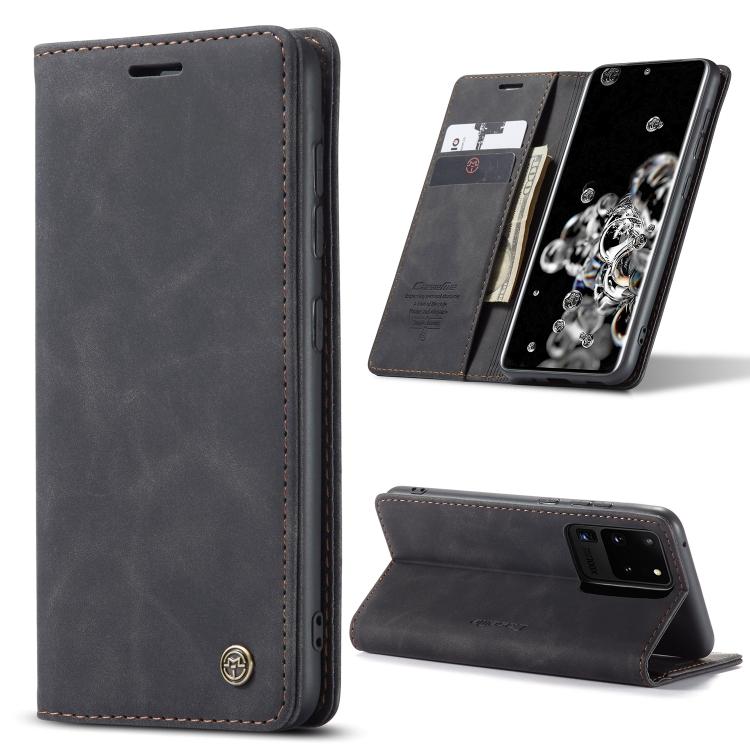 Кожаный чехол CaseMe-013 Multifunctional на Samsung Galaxy S20 Ultra - черный
