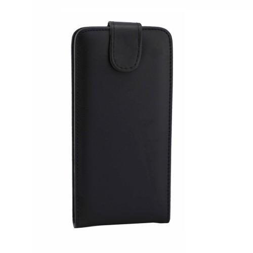Кожаный  флип чехол с магнитным хлястиком для Самсунг Галакси С8 + / G9550-черный