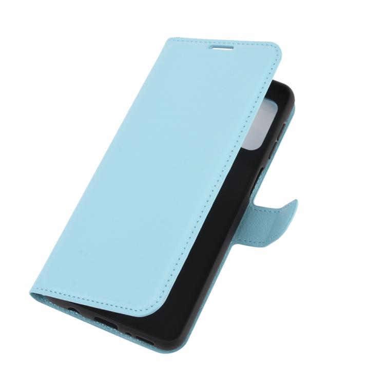 Чехол кожаный голубого цвета с магнитной защелкой для Самсунг Гелекси М31с