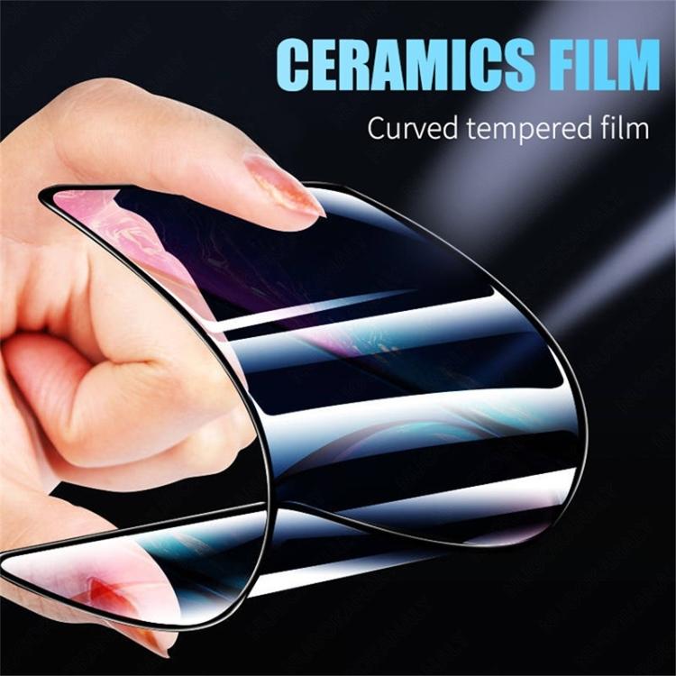 Гибкое стекло для Самсунг Галакси А21S - черно-прозрачное