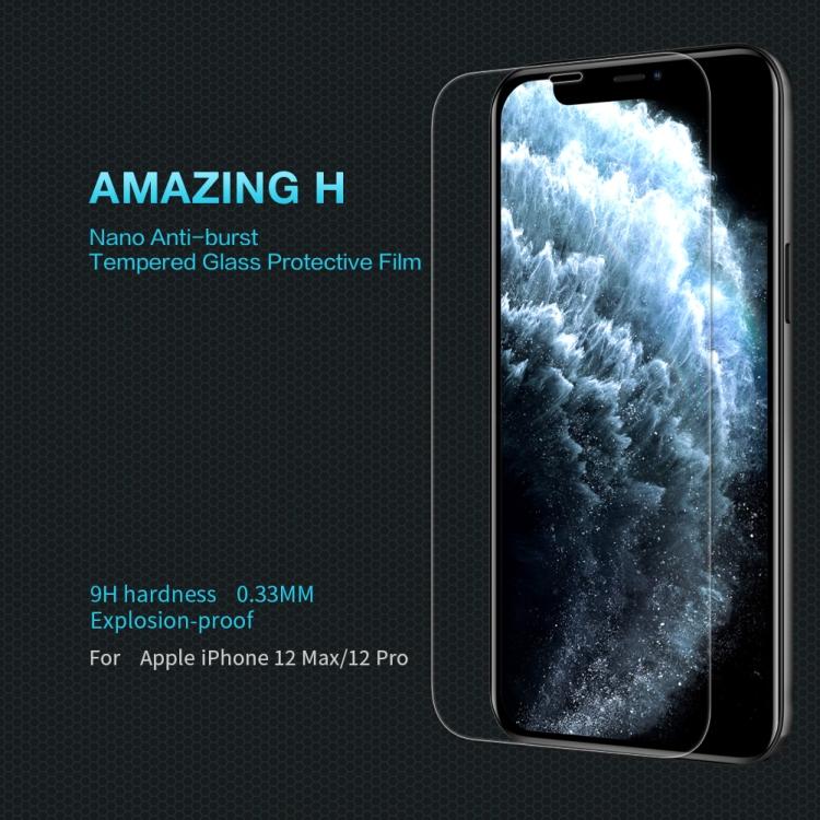 Защитное стекло Nillkin H для Айфон 12/12 Pro - прозрачное