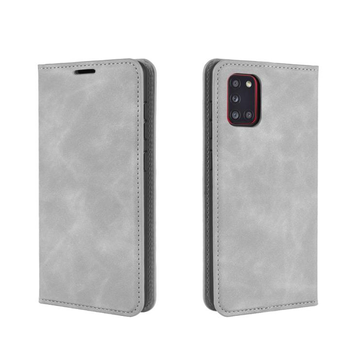 Чехол- книжка Retro Skin Feel Business Magnetic на Samsungr Galaxy A31 - серый