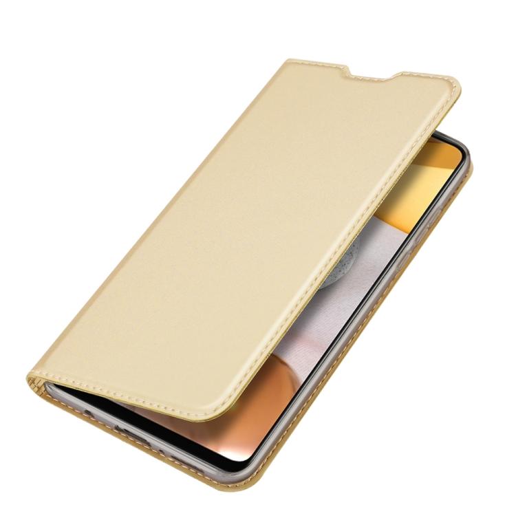Чехол-книжка DUX DUCIS Skin Pro Series на Samsung Galaxy A42 - золотой
