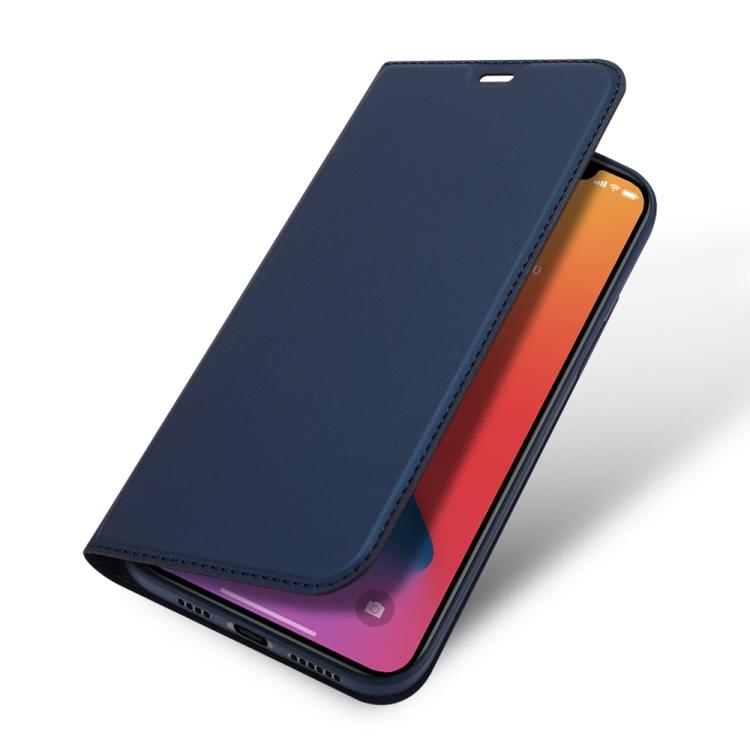 Чехол-книжка синего цвета для Айфон 12 Про Макс