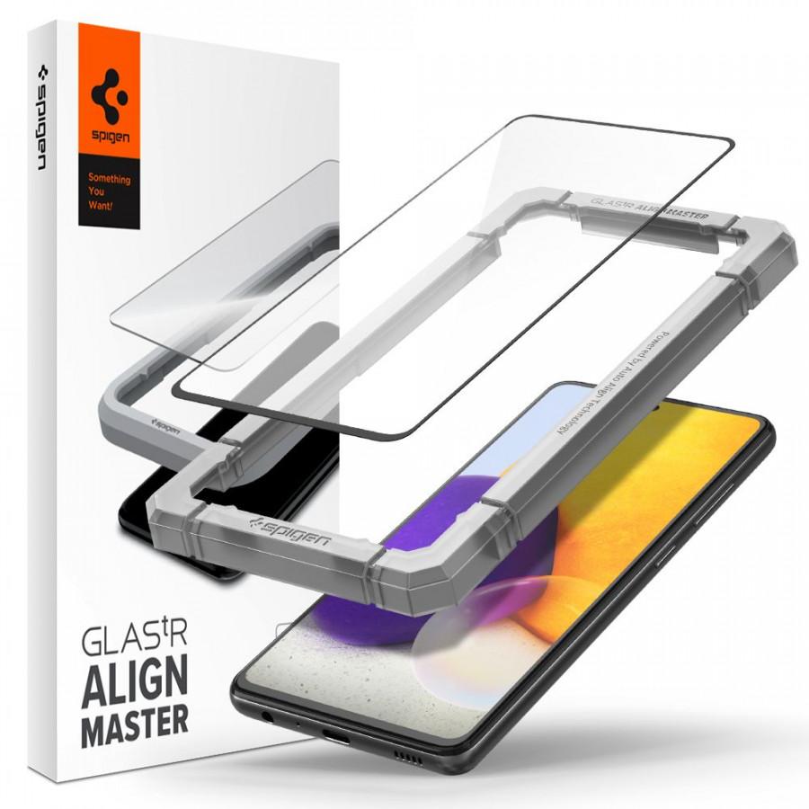 Защитное каленое стекло Spigen для Samsung Galaxy A52 Black