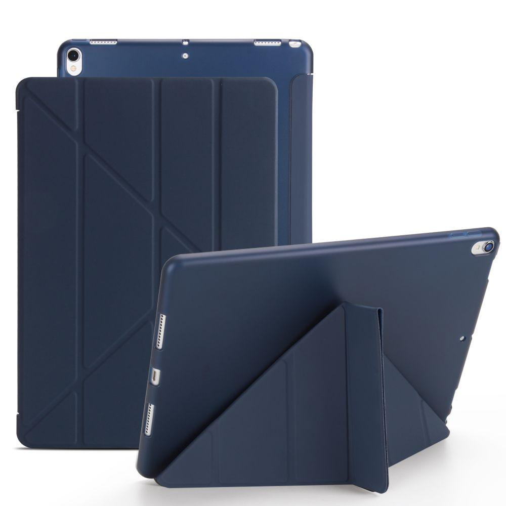 Чехол- книжка Solid Color Trid-fold + Deformation Viewing Stand для iPad Air 3 2019/Pro 10.5 - нави