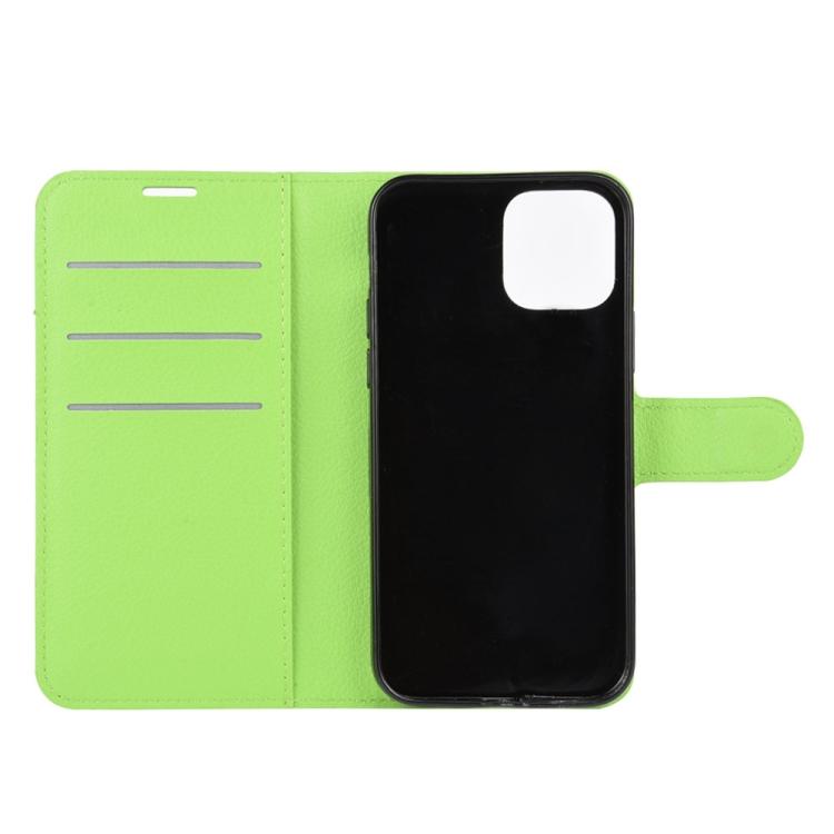 Ударостойкий зеленый чехол-книжка для Айфон 12