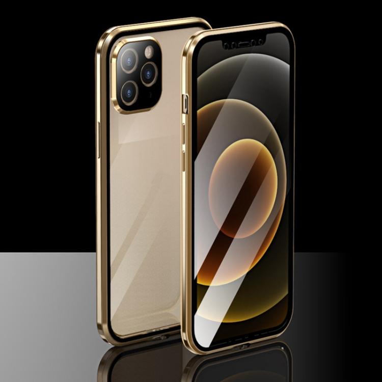 Золотой ударостойкий чехол для Айфон 12