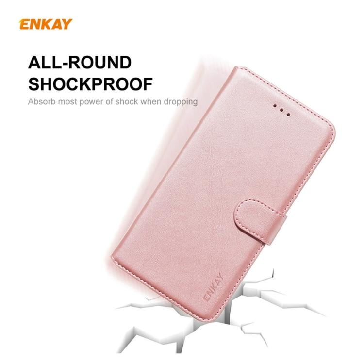 Розовый чехол-книжка ENKAY для Samsung Galaxy S21 Ultra