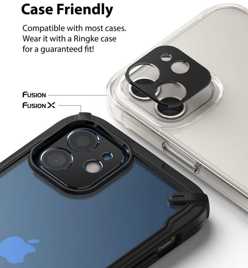 Защита камеры для Айфон 12 Мини - серебристая