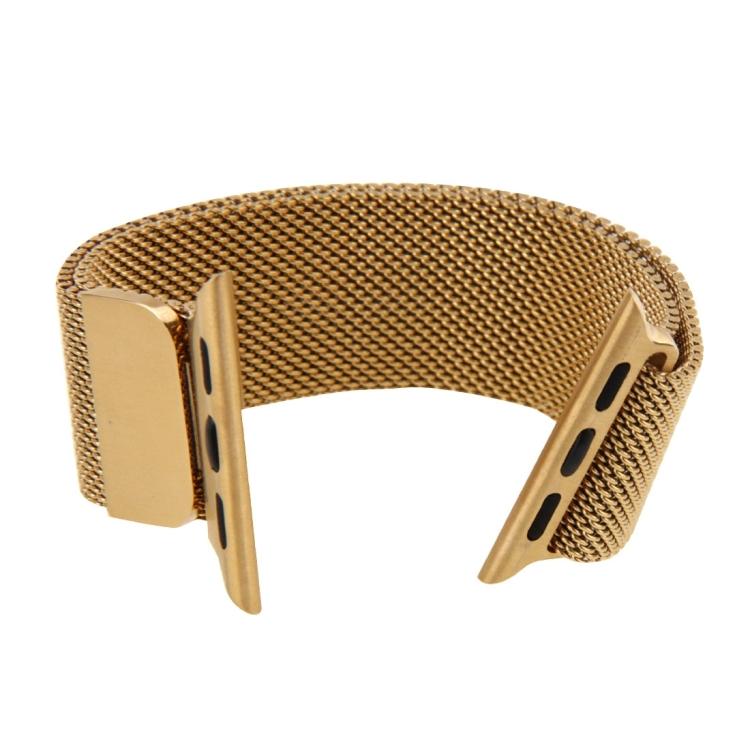 Браслет из нержавеющей стали Milanese Loop Magnetic для Apple Watch 42/44mm - золотой