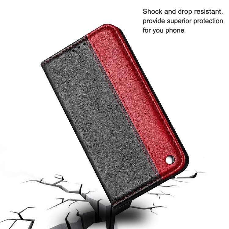 Чехол-книжка Business Solid Color для iPhone 13 mini - красный