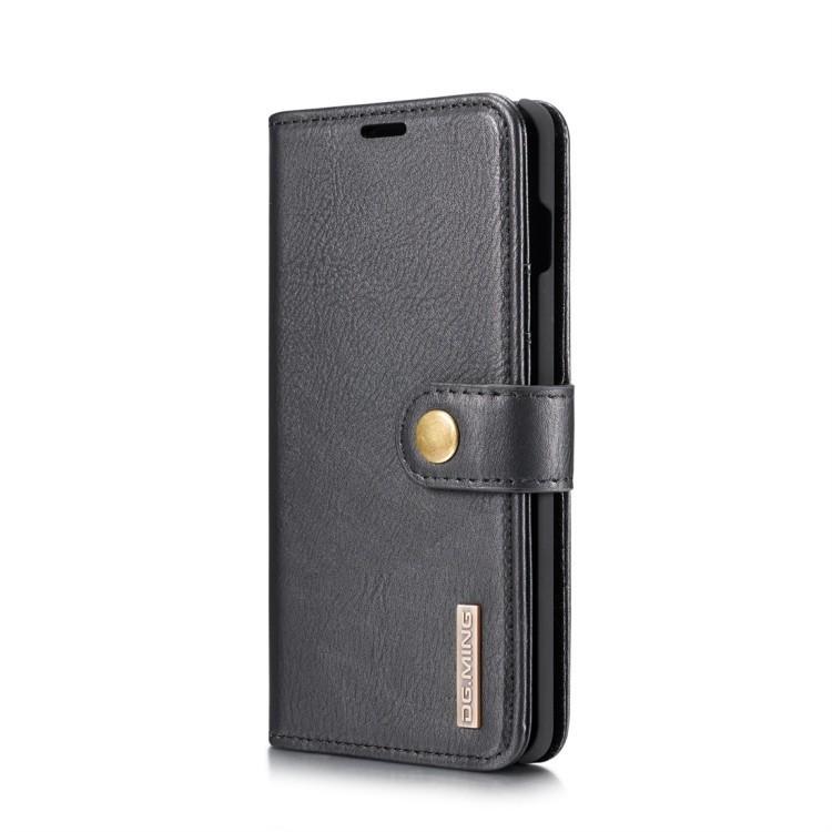 Кожаный чехол- книжка DG.MING Crazy Horse Texture на Samsung Galaxy S10 Plus-черный
