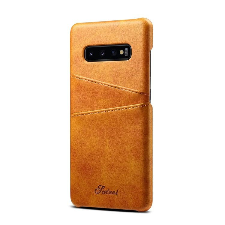 Кожаный чехол Fierre Shann Retro Oil Wax Texture на Samsung Galaxy  S10 Plus