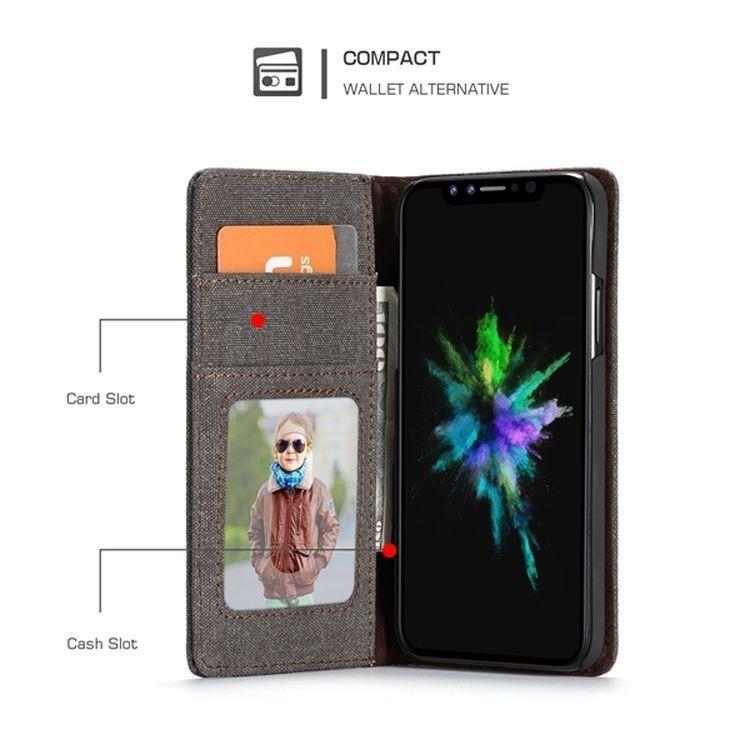Чехол-книжка CaseMe 006 Series Card магнитная крышка на Айфон  Xs Max 6.5 - черный