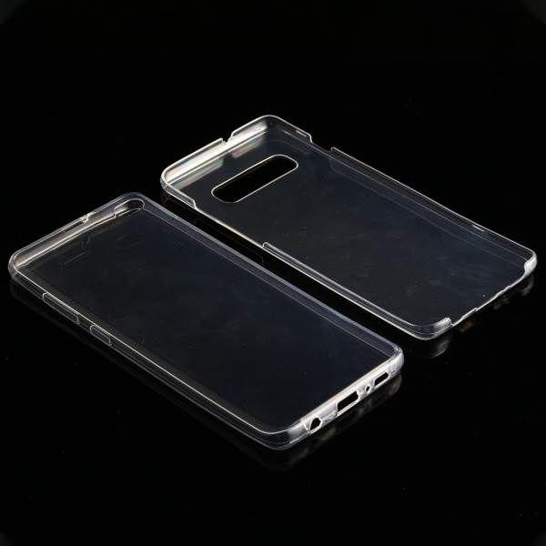 Ultra-thin Двусторонний ультратонкий силиконовый чехол на Самсунг S10 Plus - прозрачный