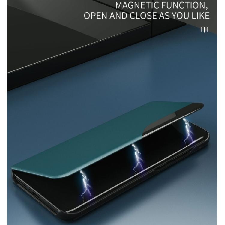Магнитный чехол-книжка синего цвета для Самсунг Гелекси М31с