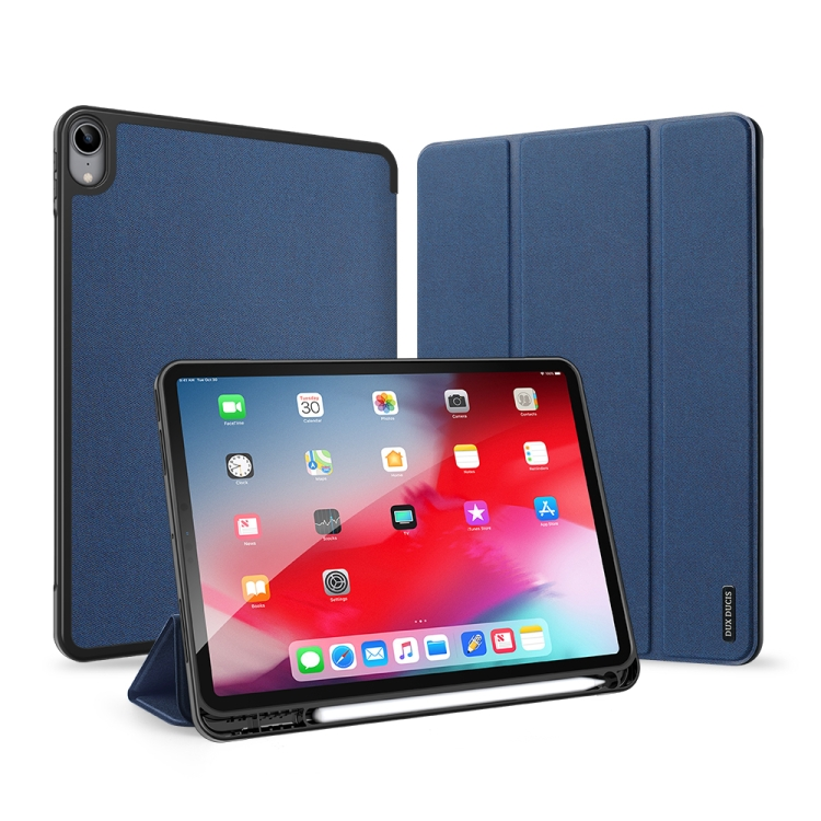 Противоударный чехол-книжка DUX DUCIS DOMO Series на iPad Air 10.9 2020 - синий