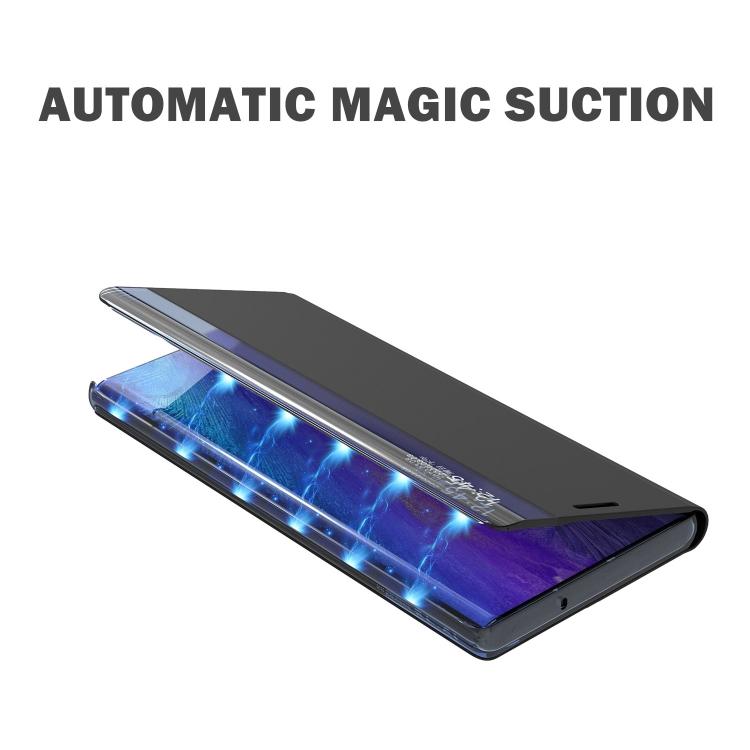 Магнитный ударостойкий чехол-книжка для Самсунг Гелекси А12 темно-синего