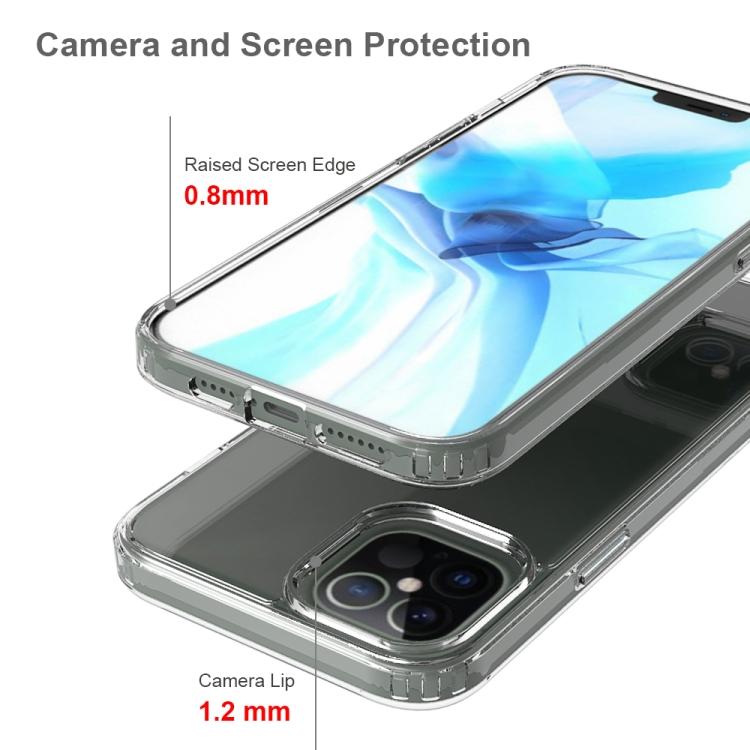 Акриловый противоударный чехол HMC на Айфон 12 Pro Max - серый