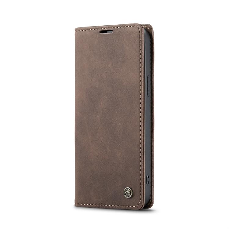 Кожаный чехол CaseMe-013 Multifunctional на iPhone 12 Pro Max - кофейный