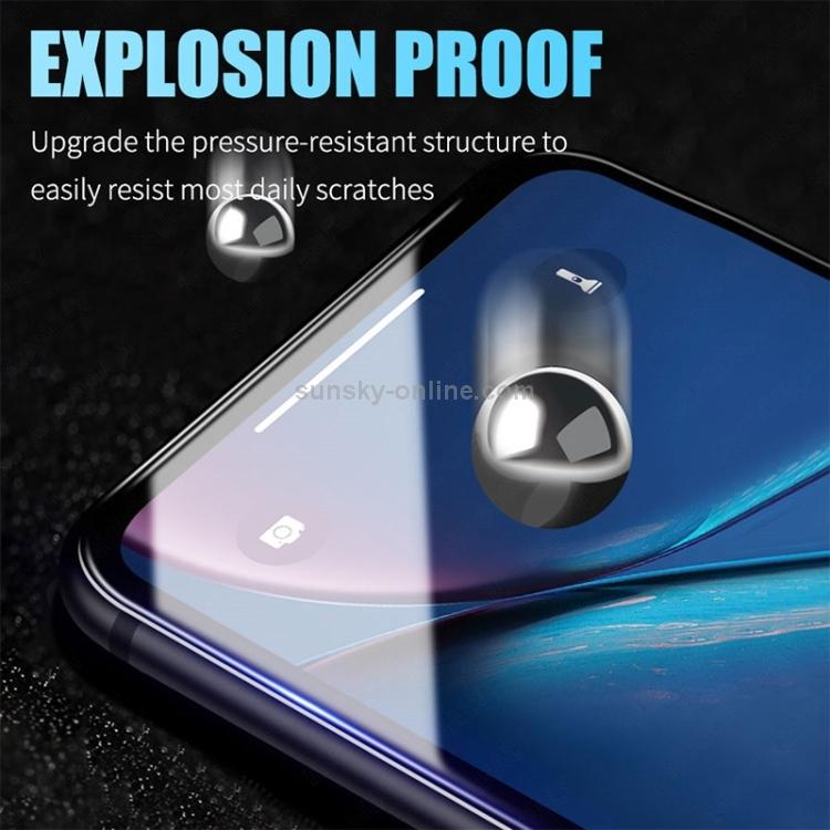 Защитное гибкое стекло 3D Full Glue на Айфон 12/12 Pro - черное