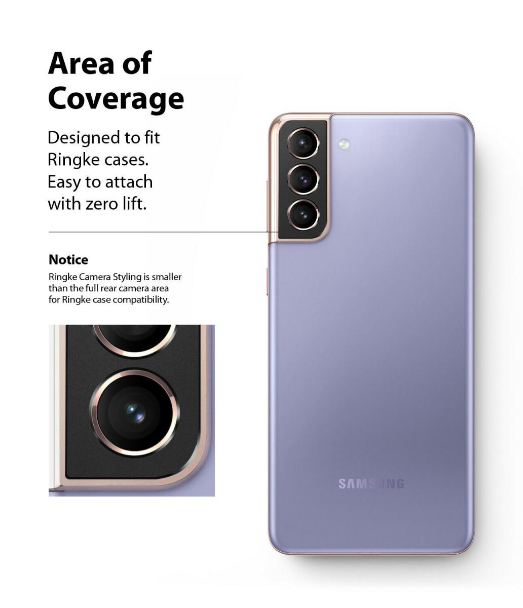 Защитное стекло на камеру Ringke Stylingr для Samsung Galaxy S21 black