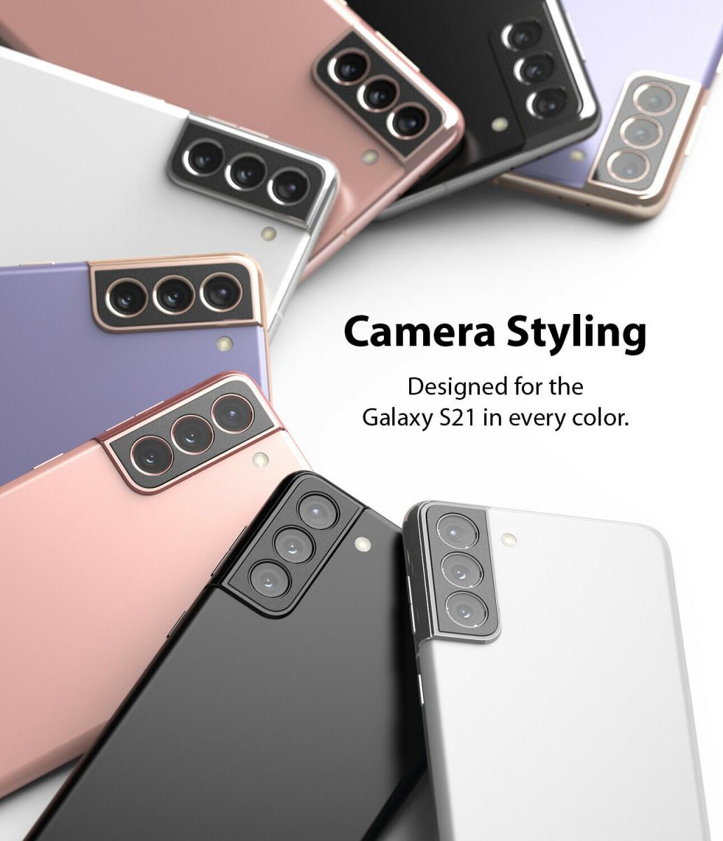 Защитное стекло на камеру Ringke Stylingr для Самсунг S21 black
