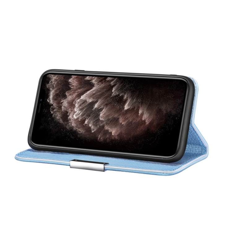 Чехол-книжка с подставкой для Айфон 12 Про Макс - синий