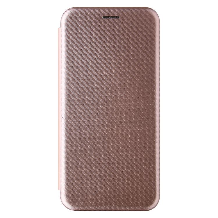 Чехол-книжка Carbon Fiber Texture на Samsung Galaxy A02 / M02 - розовый