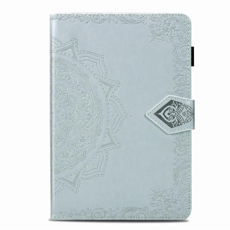 Чехол-книжка Embossed Mandala для iPad Mini 5 / 4 / 3 / 2 / 1 - серый